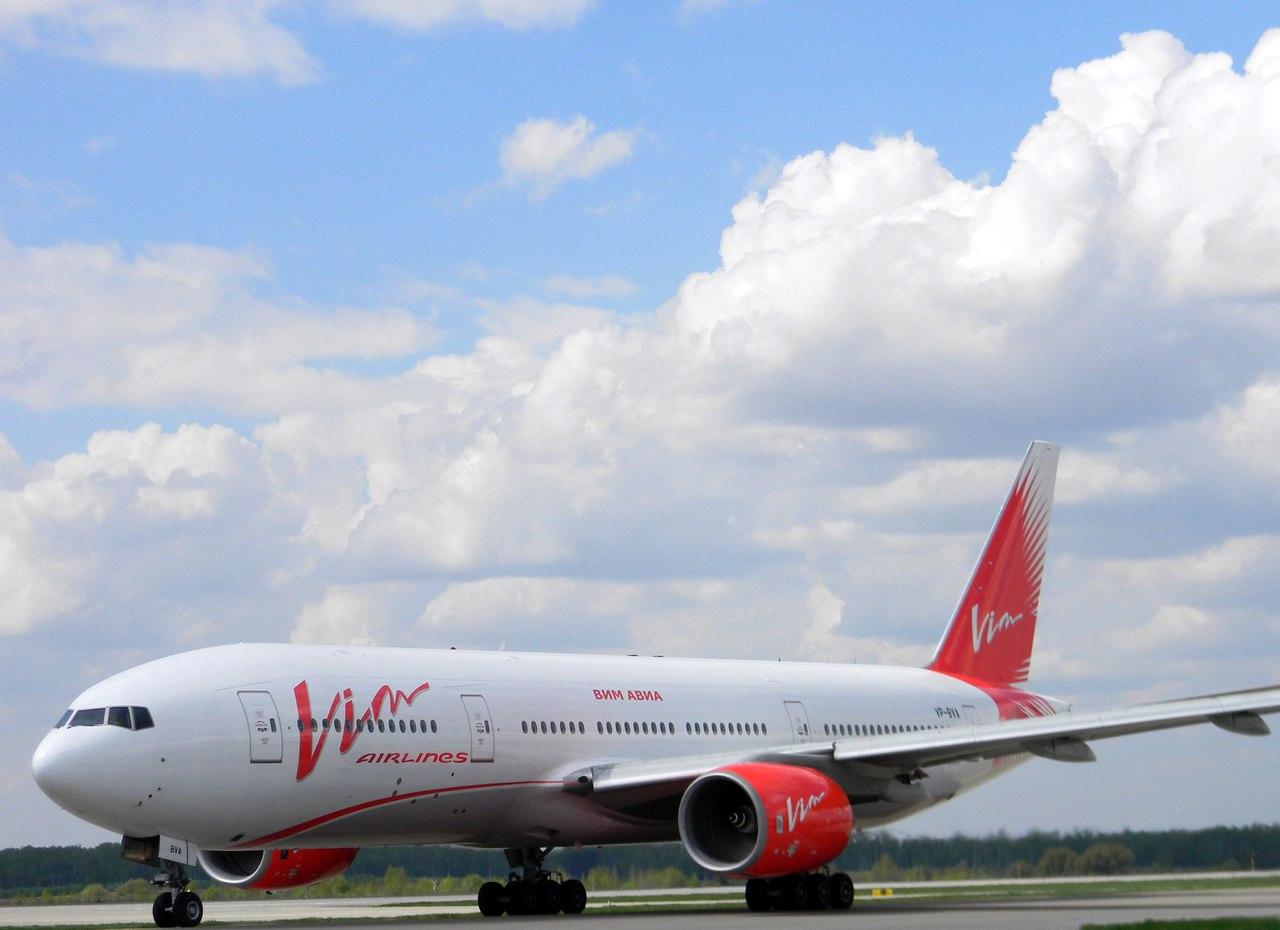 Boeing 777 ВИМ-АВИА летит в Магадан